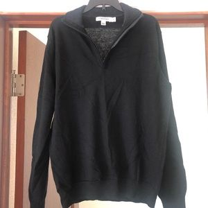 Men's black zip up sweater